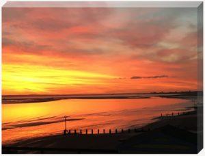 golden sunset canvas